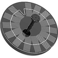 Fuente Solar para Estanque, AISITIN 3.5W Bomba de Agua Solar, Solar Fuente con 6 Estilos, para Estanque de Jardín Fuente…