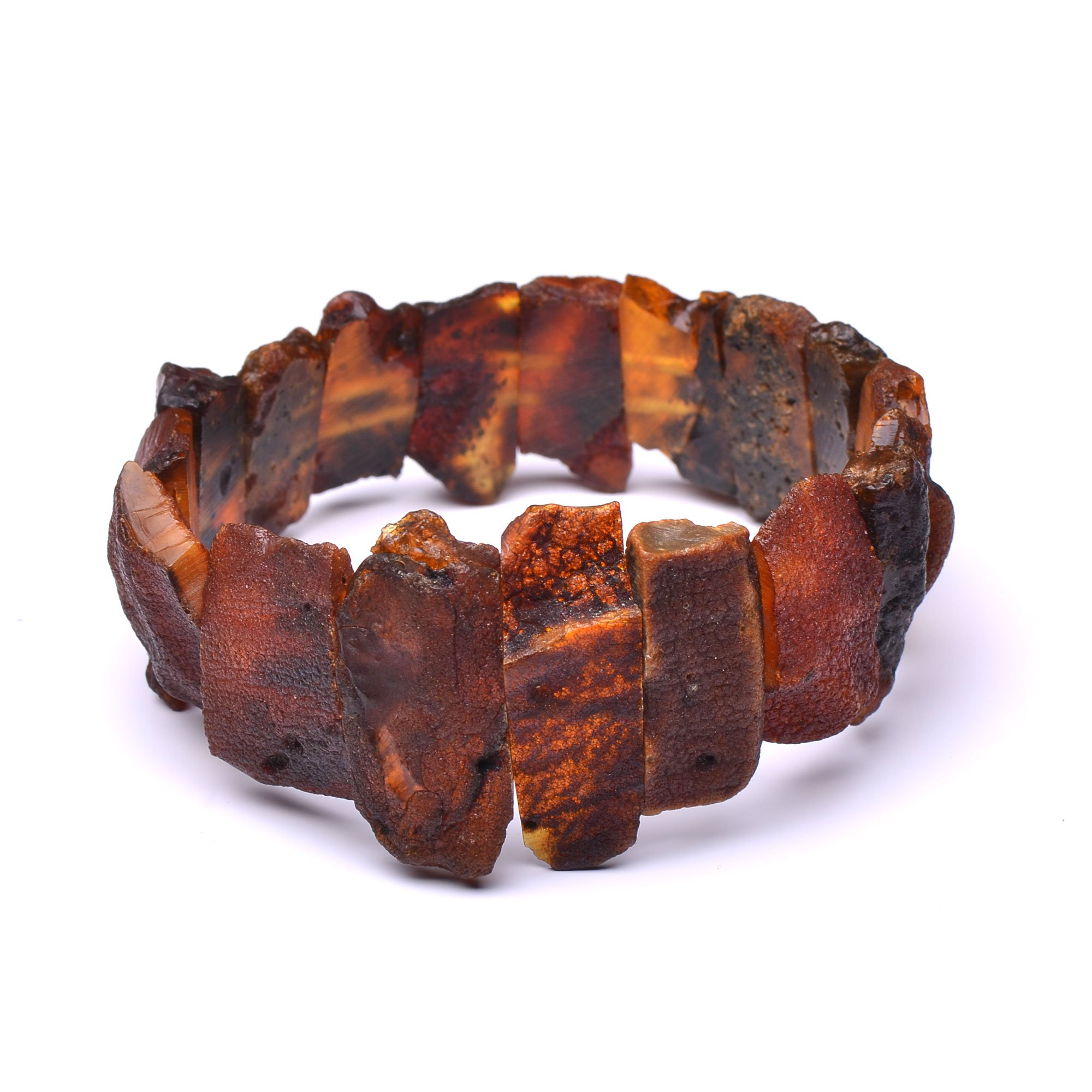 Handmade Unique Amber Bracelet - Exclusive Amber Pieces - Certified 100% Authentic Baltic Amber
