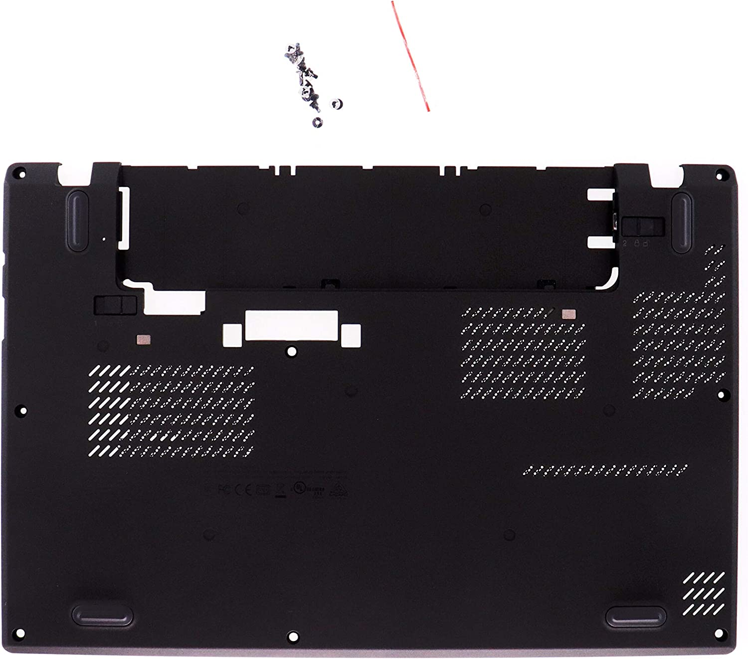 LeFix Bottom Base Cover Lower Case Shell with Screws Replacement Compatible with Lenovo ThinkPad X260(20F5 20F6) 01AW432 AP0ZK000100 SCB0K41880