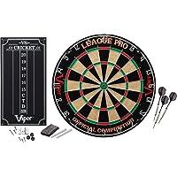 Viper League Pro Regulation - Juego de diana para principiantes con punta de acero y alambre de araña radial sin grapas, sisal de alta calidad con anillo giratorio