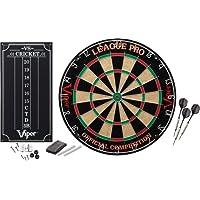 Viper League Pro Sisal/Bristle–Diana punta de acero con staple-free Bullseye y Cricket marcador Kit