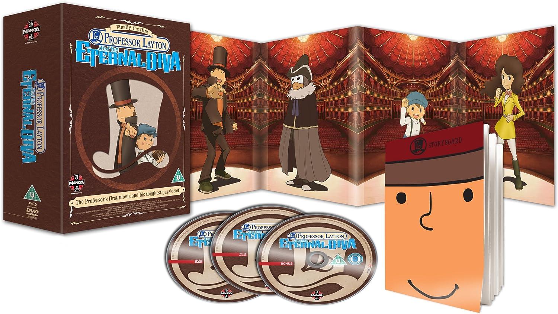 Professor Layton And The Eternal Diva Dvd Blu Ray Combi Pack