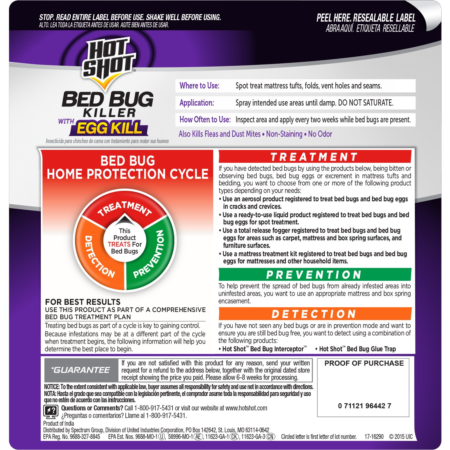 Amazon Hot Shot 1 Gallon Ready To Use Bed Bug Home Insect