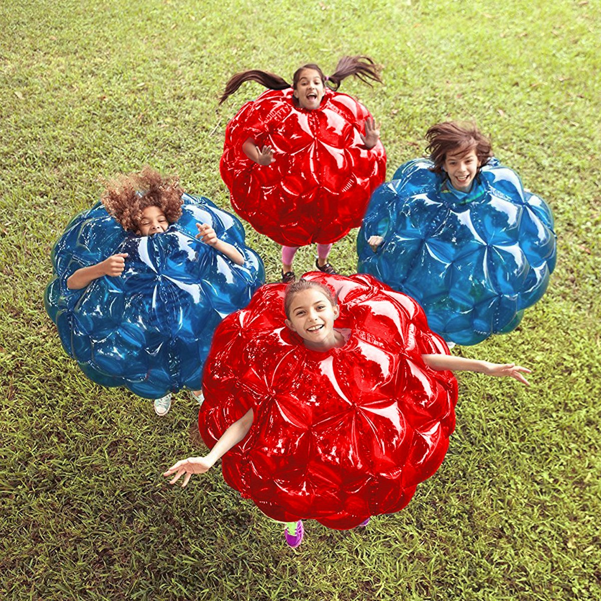 Inflatable 36'' Wearable Buddy Bumper Zorb Balls Heavy Duty Durable PVC Viny Bubble Soccer Outdoor Game (2-Pack,Blue&Red)) ... by Holleyweb (Image #7)