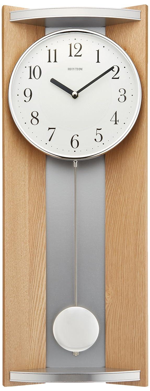リズム時計 掛け時計 アナログ 振り子 モダンライフM05 木 茶 (薄茶色半艶仕上げ) RHYTHM 4MPA05RH07 B00OPSPWP6