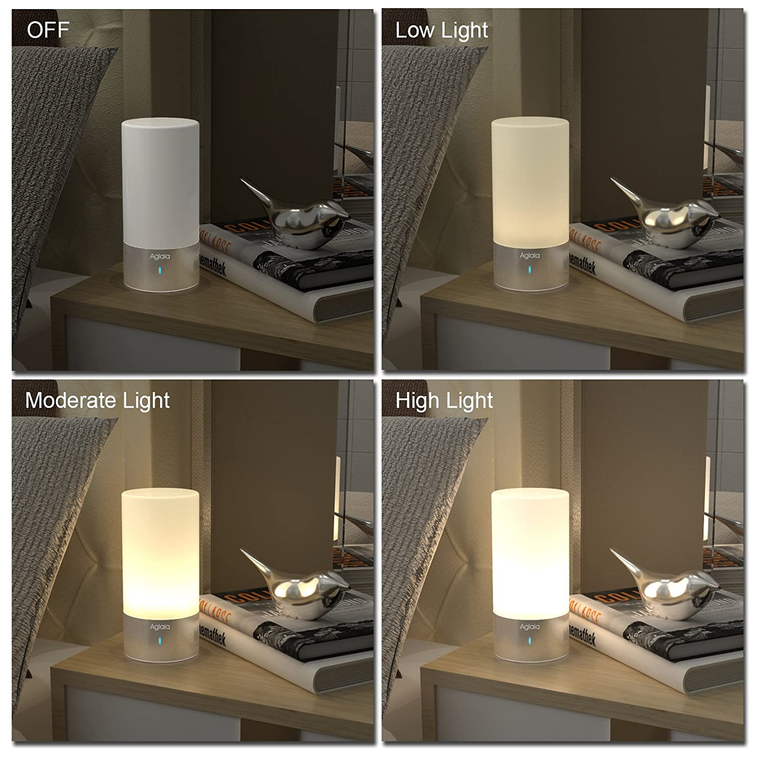 Aglaia table lamp touch sensor bedside lamp dimmable amazon aglaia table lamp touch sensor bedside lamp dimmable amazon electronics aloadofball Images