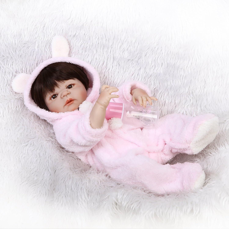 面白い家23インチ57 cmハンドメイドフルシリコンビニールReal Looking Rebornベビー人形ホットLifelike新生児人形Children PlayパートナーWeighted解剖学的に正しいクリスマスギフトBoy   B07B7D3WRX