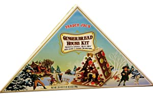Trader Joes Gingerbread House Kit, Authentic German Hexen Haus with Candy and Cookie Decorations, Make A Special House for any holiday - St. Patricks, Mothers Day or Fathers Day.