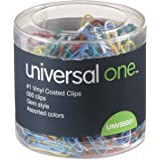 Universal 95001 1-Size 500 Vinyl Coated Wire Paper Clips