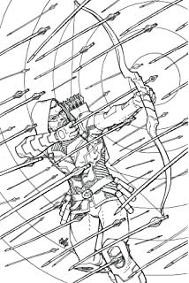 GREEN ARROW 48 ADULT COLORING BOOK VAR ED