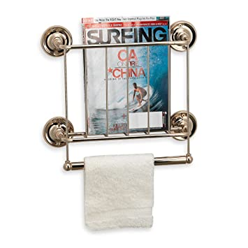 wall mount magazine rack toilet. Interesting Magazine 13Karat Gold Finish Wall Mount Magazine Rack And Toilet R