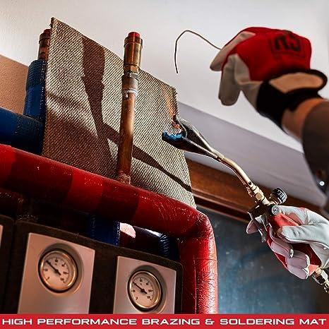 NAC INDUSTRIAL Manta de protección para soldadura - Soldadura Manta BURN MAT - Resistente Hasta 1000 °C (BURN MAT GOLD): Amazon.es: Bricolaje y herramientas