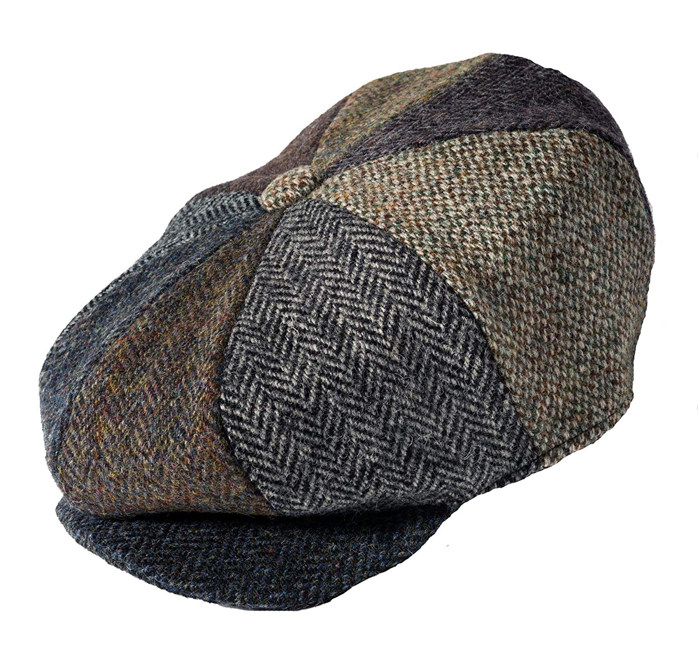 Failsworth Hats Lewis Harris Tweed Patchwork Bakerboy Cap