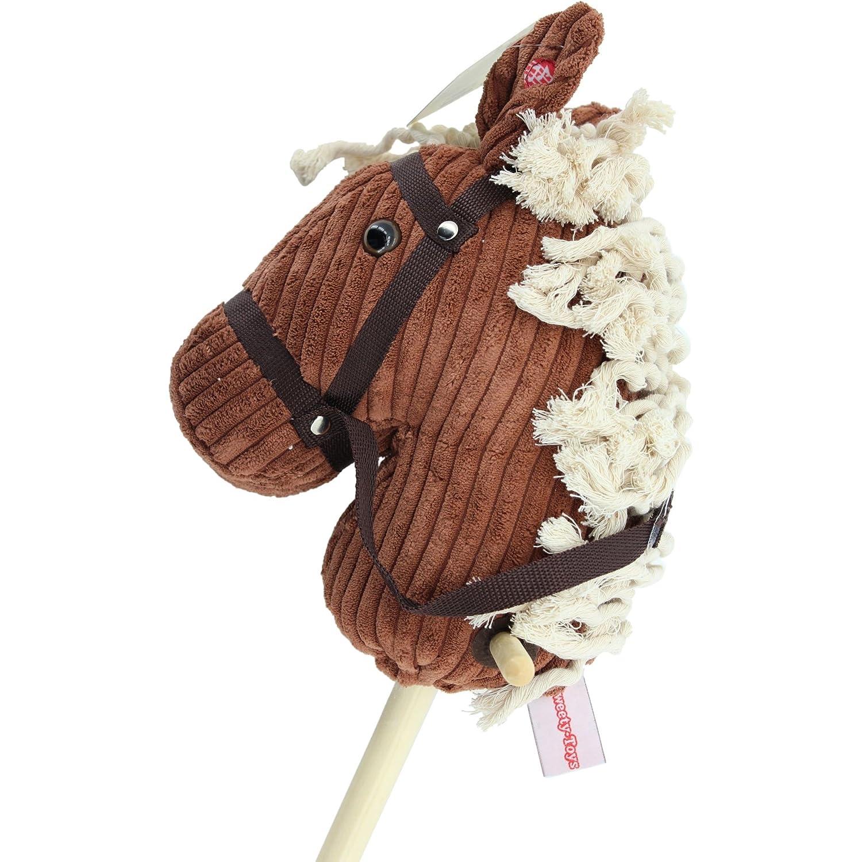Sweety-Toys 6755  RED Sugar  CORD COTTON algod/ón caballo de madera con sonido