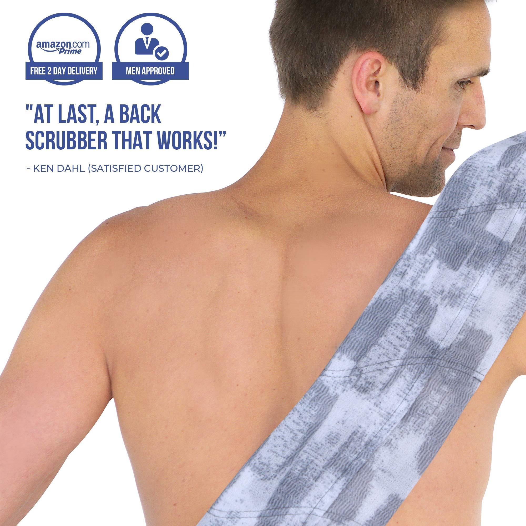 SoapSleeve Exfoliating Loofah Sponge: Long Back Scrubber Shower & Bath Body Lufa for Men & Women| Exfoliating Back Scrubber Loofah To Exfoliate, Rejuvenate & Relax Your Body - BRADLEY