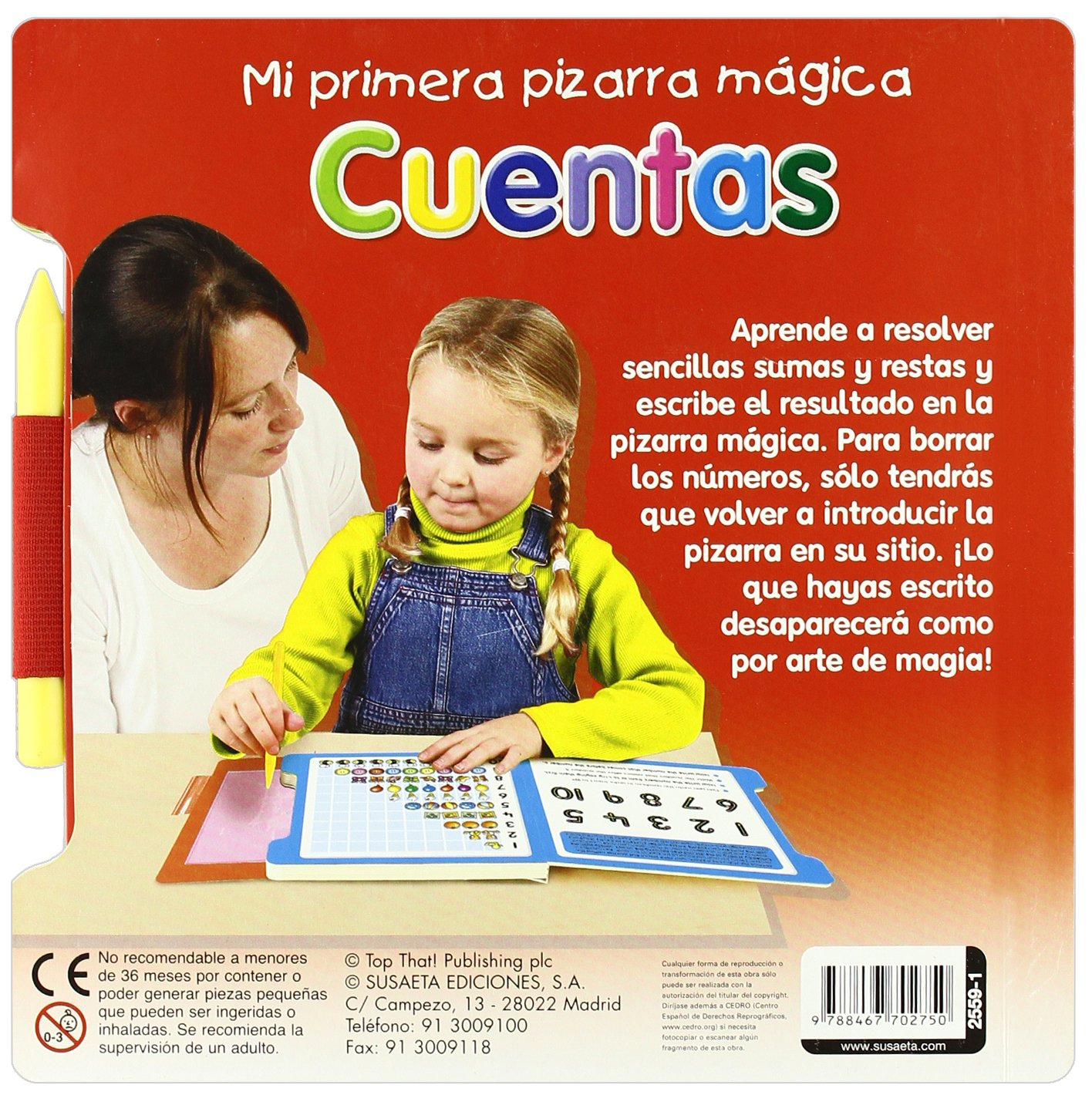 CUENTAS (PRIM.PIZARRA MAGICA): Susaeta Ediciones ...