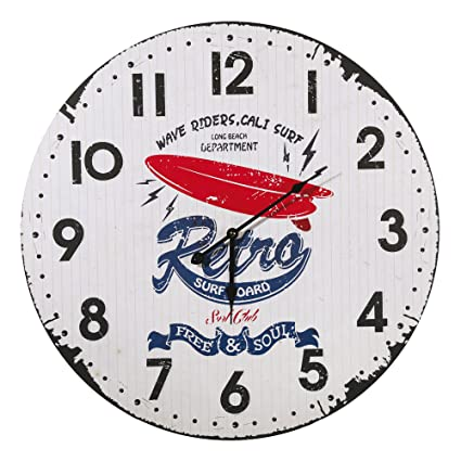 "Reloj de pared ""Retro tabla de surf 