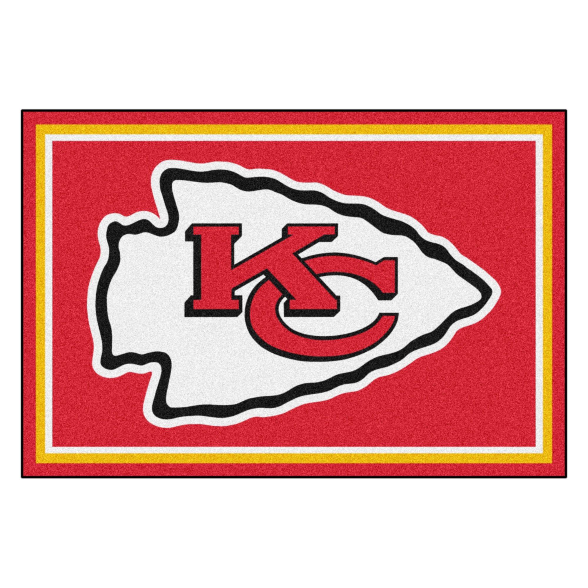FANMATS NFL Kansas City Chiefs Nylon Face 5X8 Plush Rug by Fanmats (Image #1)