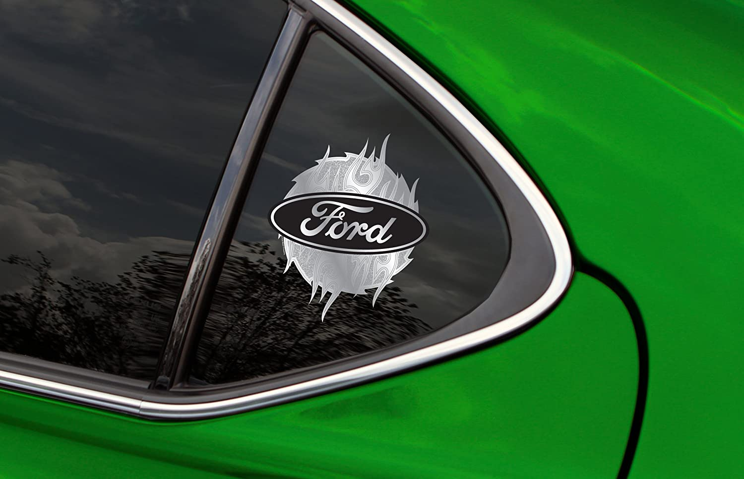 CHROMA 003070 Classic Emblem Ford Blades with Glitter Decal
