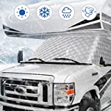 BougeRV RV Windshield Window Snow Cover for Class C Ford 1997-2021 Motorhome Windshield Cover Snow Cover for RV Front…