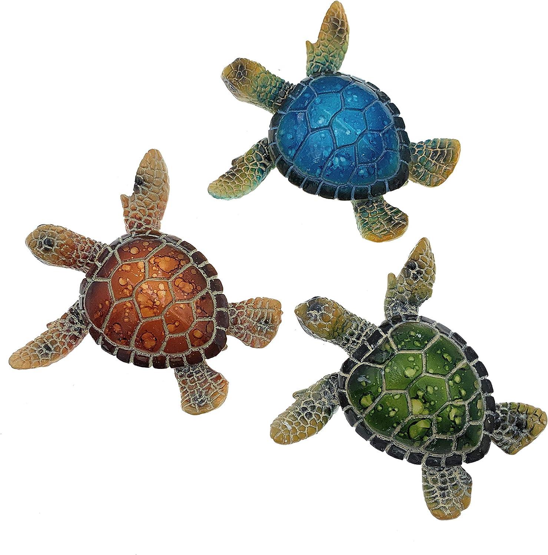 Globe Imports Baby Sea Turtle Mini Figurines, Set of 3