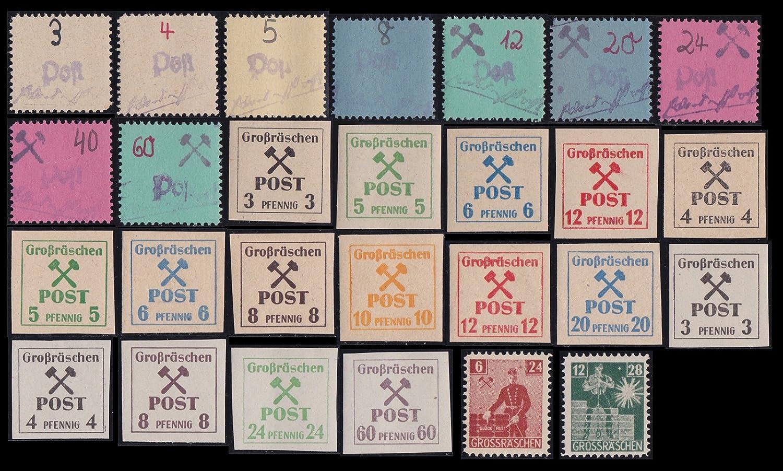 Goldhahn Deutsche Lokalausgaben Großräschen 27 postfrische Werte mit Varianten Briefmarken für Sammler