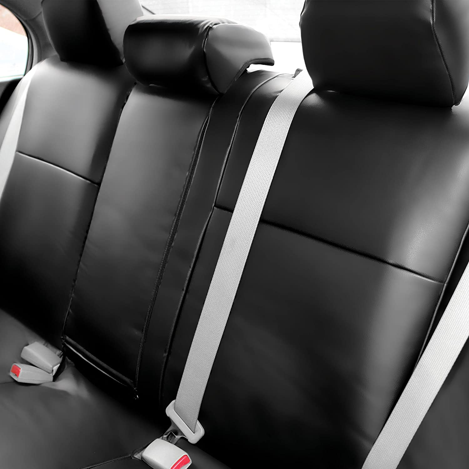 Black Leather Look Car Seat Covers Cover For Honda Civic Hatchback 2012-2017