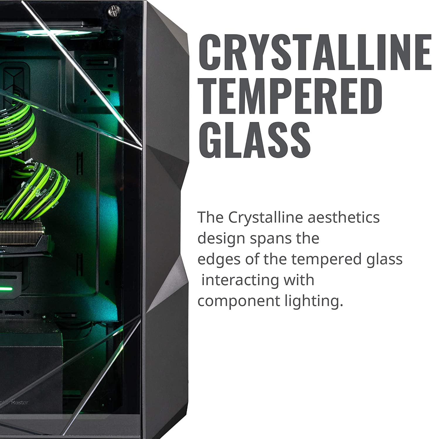 Cooler Master MasterBox TD500 Mesh White Airflow ATX Mid-Tower w//E-ATX Support Crystalline Tempered Glass /& 3 ARGB Fans w//Controller Polygonal Mesh Front Panel