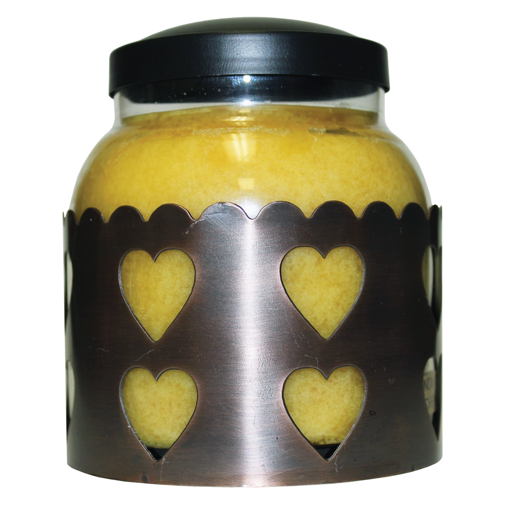 A Cheerful Giver Heart Candle Sleeve, Large, Copper