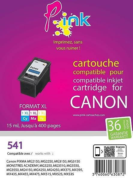 Pink EINKPACA541 cartucho de tinta Cian, Magenta, Amarillo 15 ml ...