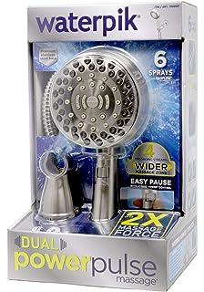 Waterpik Dual Power Pulse Massage Shower Head (Brushed Nickel)