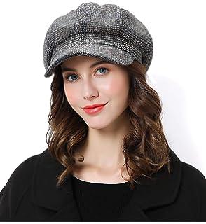 f2292d37468 Sumolux Women Beret Newsboy Hat French Cotton Cap Classic Autumn Spring  Winter Hats