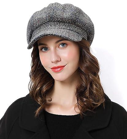 c6ecd14c58ee7 Amazon.com  Sumolux Women Beret Newsboy Hat French Cotton Cap Classic Autumn  Spring Winter Hats  Sports   Outdoors