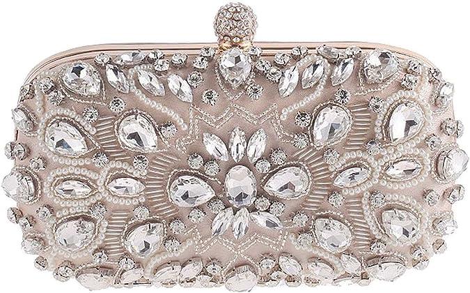 Bettyhome Women Fashion Straw Weaven Chain Clutch Evening Bag Purse Diff Color