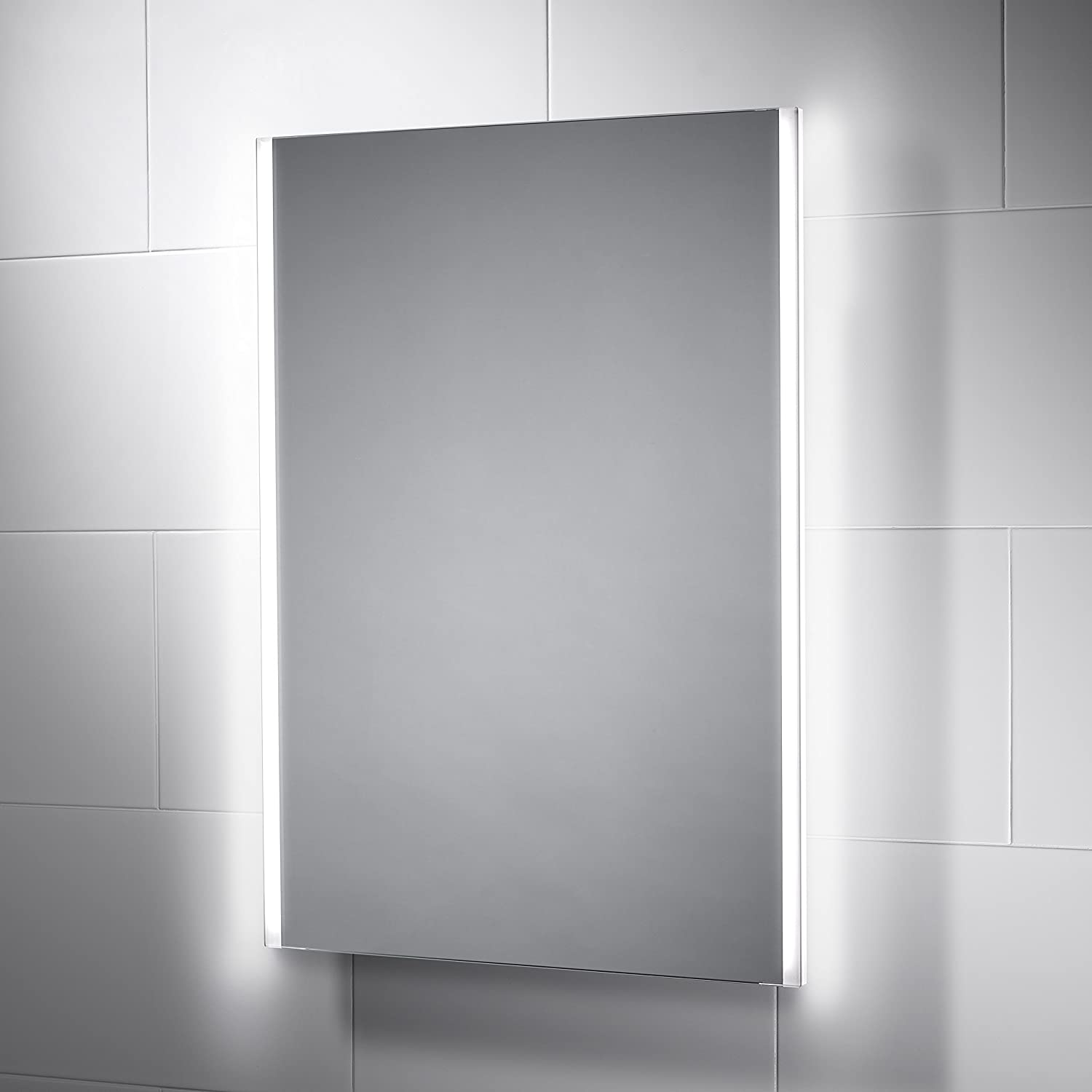 Adara LED Bathroom Mirror 500mm x 700mm, with built-in Bluetooth ...