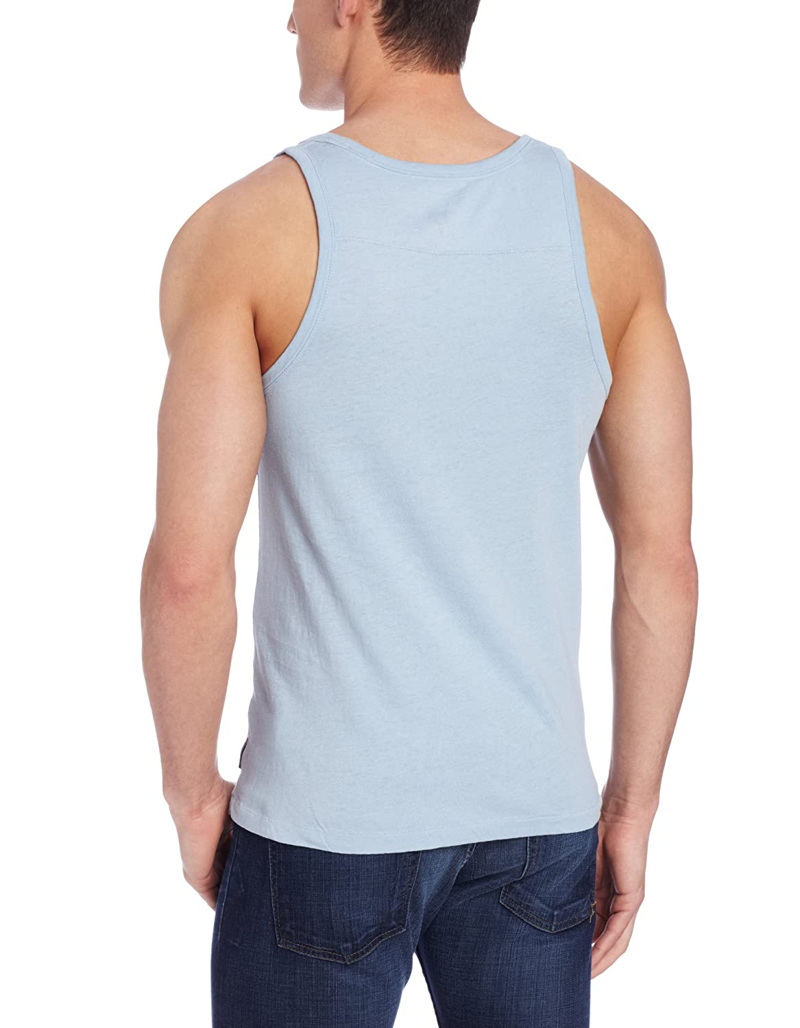French Connection Mens Long Board Linen Tank