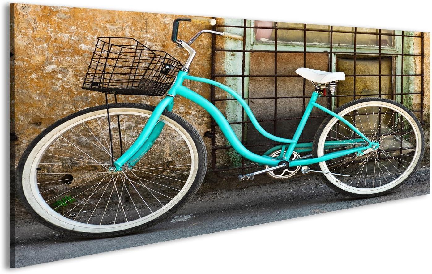 islandburner Cuadro Cuadros Bicicleta Antigua con Cesta Cerca de ...