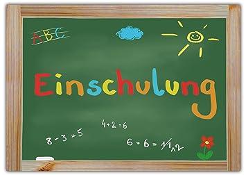 12 Einladungskarten Zur Einschulung // Schulanfang Einladungen Mädchen  Jungen Schule Tafel Schuleinführung Schuleingang