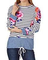 Joules Mariana Floral Wide Neck Sweatshirt (U)