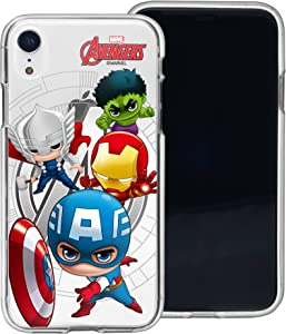 WiLLBee Compatible with iPhone XR Case Soft Jelly TPU Cover - Mini Avenger
