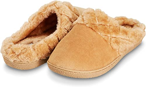 Cushion-Walk Mule Slipper Plush Warm Slip On Clogs Flexible Lightweight Cosy