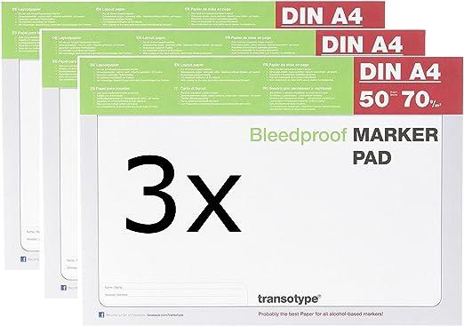 COPIC Markerblock DIN A4 70 g//qm 50 Blatt
