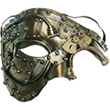 Coddsmz Máscara de Disfraces Steampunk Phantom of The Opera Máscara de Fiesta Veneciana mecánica