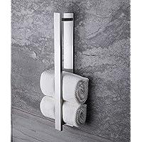 Ruicer Handdoekhouder, zelfklevend, handdoekstang, zonder boren, gastendoekhouder, roestvrij staal, 40 cm