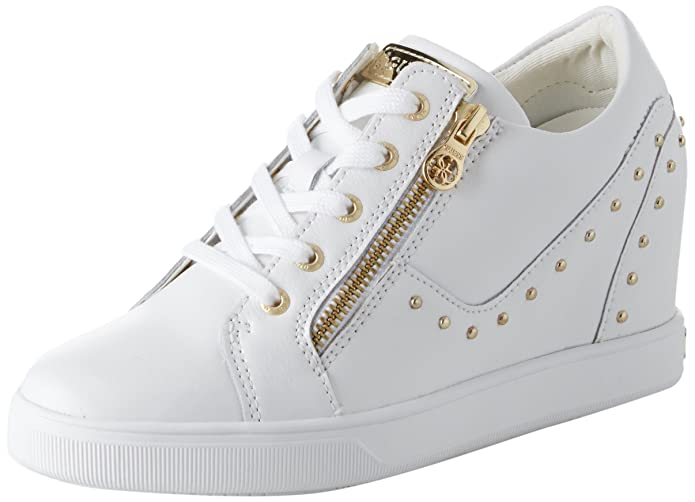 Amazon.com   GUESS Womens Footwear Active Lady Trainers, White (White White), 7.5 UK   Fashion Sneakers