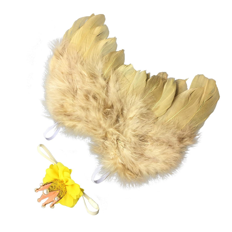 lwingfly Corona Alas de plumas,Conjunto De Niños Venda Elástico ...