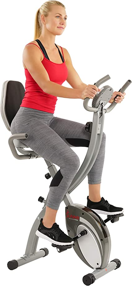 Upright Exercise Bike Indoor Cardio Workout Stationary Magnetic Resistance MA