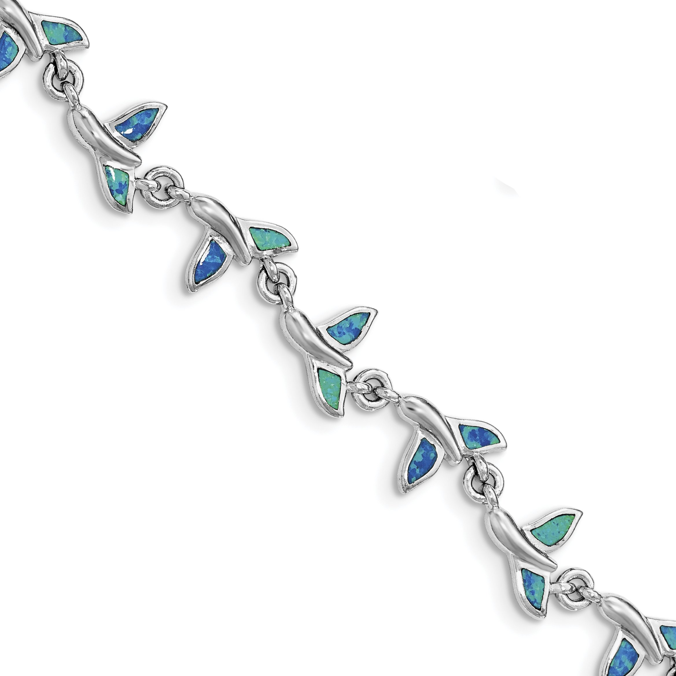 ICE CARATS 925 Sterling Silver Whale Tail 7.75in Bracelet 7.75 Inch Animal Fine Jewelry Gift For Women Heart by ICE CARATS (Image #2)