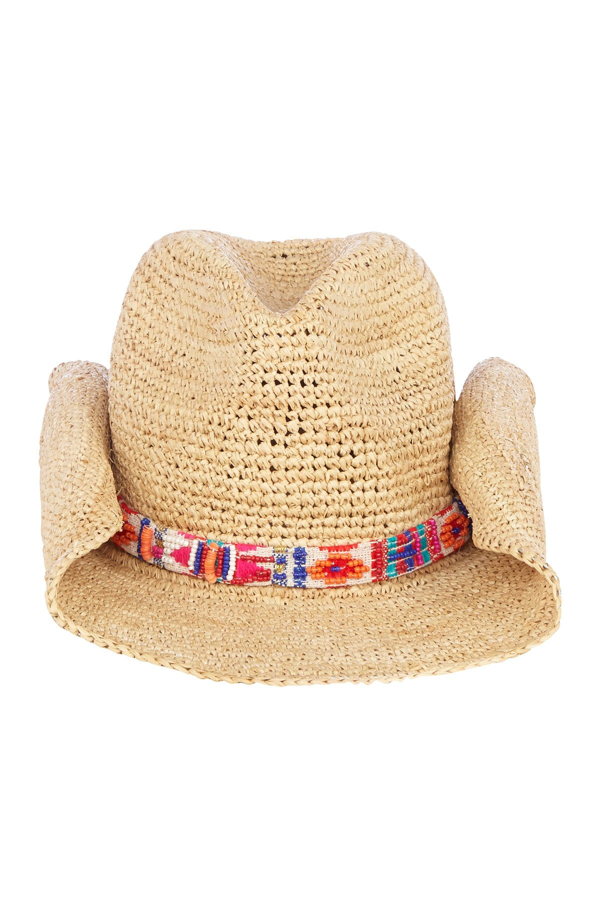 Flora Bella Florabella Women's Straw Cowboy Hat Natural/Apple One