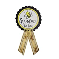 Grandma to Be Pin Baby Shower Yellow and Black Badge for Nona to wear at Baby Sprinkle Gender Reveal